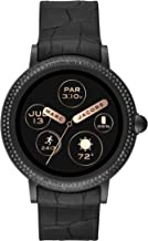 Marc Jacobs Women's Riley Touchscreen Smartwatch Stainless Steel Watch with Silicone Strap, Black, 20 (Model: MJT2005)