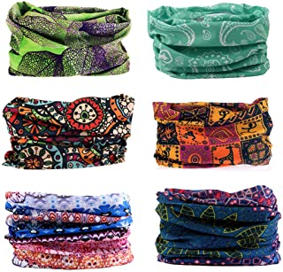 Toes Home 6PCS Outdoor Magic Headband Elastic Seamless...