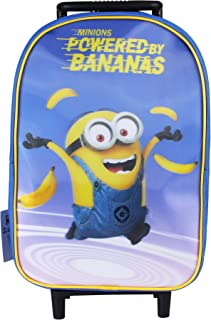 Minions Powered by Bananas Bolsa Escolar, 42 cm, Azul (Blue)