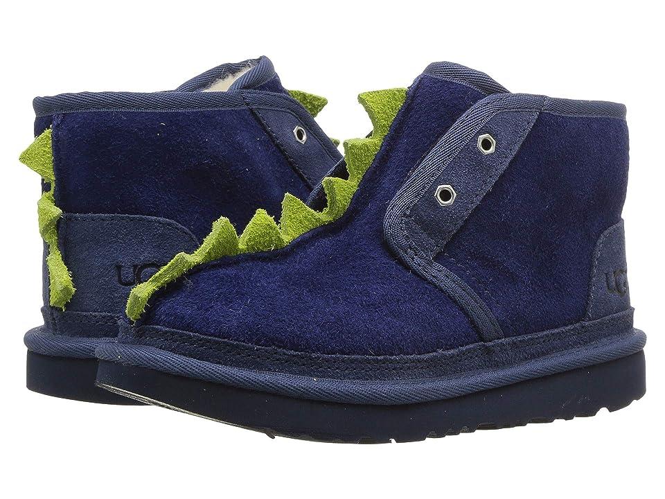 UGG Kids Dydo Neumel II (Little Kid/Big Kid) (Navy/Bright Chartreuse) Boys Shoes