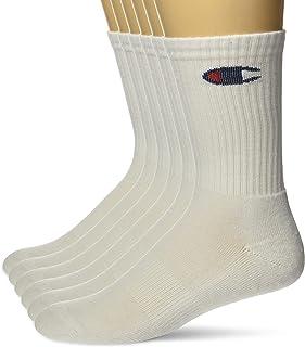 Champion Men's Double Dry Moisture Wicking Logo 6-Pack Crew Socks