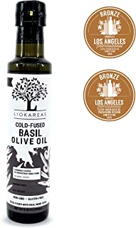 Sponsored Ad - Basil Extra Virgin Olive Oil - Greek Cold Fused Basil EVOO - Organic - NonGMO - Gluten Free - Paleo - Keto ...