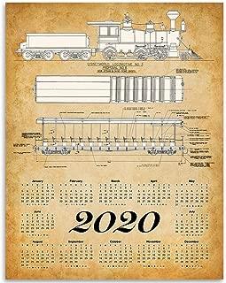 2020 Calendar - Disney World Locomotive No. 3-11x14 Unframed Calendar Art Print - Great Gift for Rail Fans, Also Makes a Great Gift Under $15