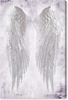 The Oliver Gal Artist Co. Fashion and Glam Wall Art Canvas Prints 'Wings of Angel Amethyst' Home Décor, 24