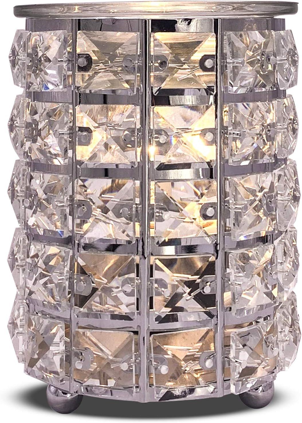 kakapo Crystal Cylinder Wax Melt Warmer Electric Wax Burner Melter Fragrance Warmer for Home Office Bedroom Living Room Gifts & Decor