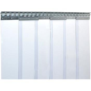 Rollos de Tiras de PVC, 2x200 mm, Rollo de 50 m, Transparentes, para Usar como Cortinas de Tiras, Cortinas con persianas o Cortinas industriales, Resistentes al Viento: Amazon.es: Productos para mascotas