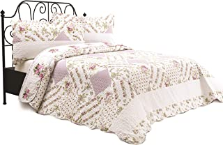 Safdie 60113.3DQ.03 Macy Full//Queen White Quilt Set 3 Piece