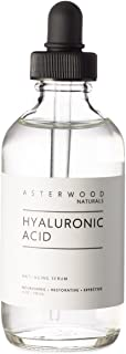 Best Hyaluronic Acid Serum 4 oz, 100% Pure Organic HA, Anti Aging Anti Wrinkle, Original Face Moisturizer for Dry Skin and Fine Lines, Leaves Skin Full and Plump ASTERWOOD NATURALS Dropper Bottle Review