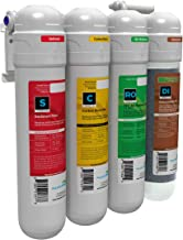 Aquatic Life Reverse Osmosis Water Filtration Unit, 4 Stage Twist-in 75 GPD, Deionization Water Filter