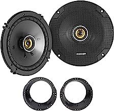 "Pair KICKER 46CSC654 CSC65 6.5"" 6-1/2"" 600 Watt 4-Ohm Car Audio Speakers Bundle with METRA 82-9601 6.5"" to 6.75"" Adapter P... photo"