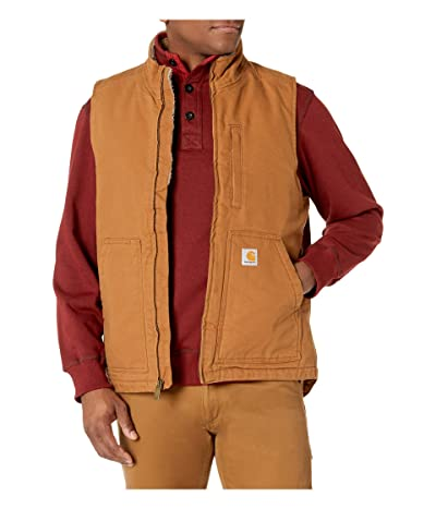 Carhartt OV277 Sherpa Lined Mock Neck Vest (Carhartt Brown) Men
