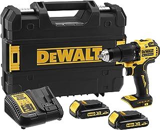DeWalt 18V 13mm Hammer Compact Cordless 1.5AH, Yellow/Black, DCD709S2T-GB, 3 Year Warrnty