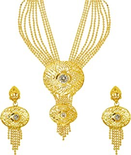 bodha 22K Gold Plated Traditional Indian Bollywood Necklace Jewellery Set for Women (SJ_2649)