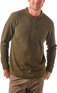 Authentics Men's Long Sleeve Waffle Henley