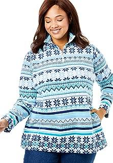Women's Plus Size Quarter-Zip Microfleece Pullover