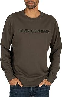 Calvin Klein Jeans Men's Institutional Logo Sweatshirt, Green