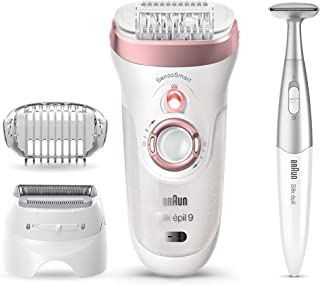 Braun Epilator for Women, Silk-epil 9 9-890 Hair Removal for Women, Bikini Trimmer, Womens Shaver...