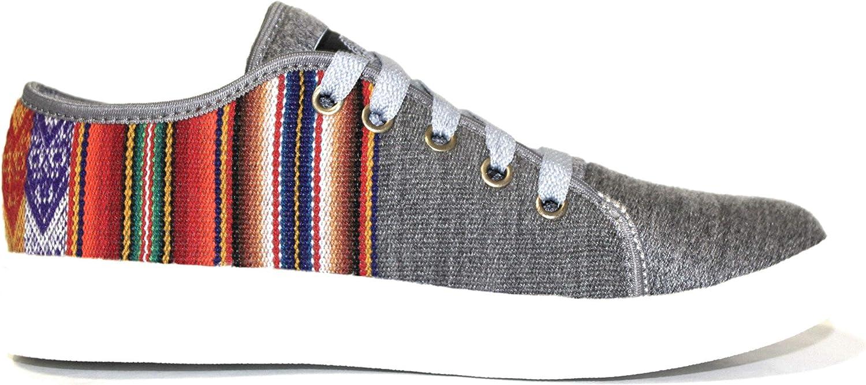 RennaR Grey Handmade shoes Unisex Craft Sneaker