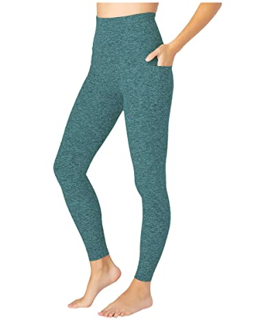 Beyond Yoga Spacedye High Waisted Pocket Midi Legging (Meadow Sage/Frosty Glade) Women