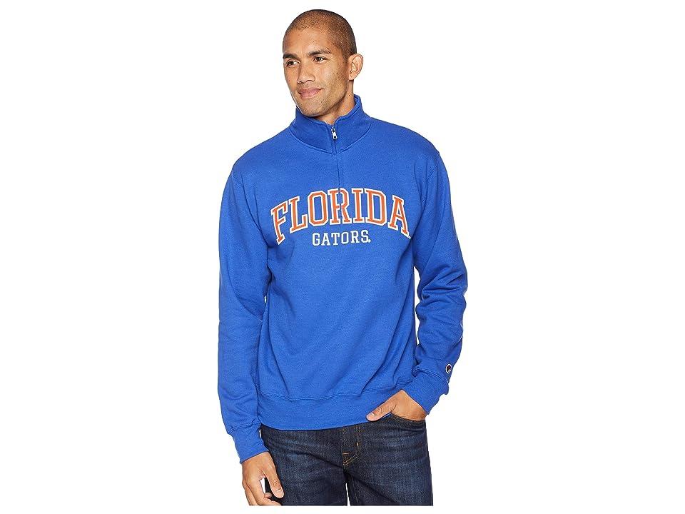 Champion College Florida Gators Powerblend(r) 1/4 Zip (Royal) Men