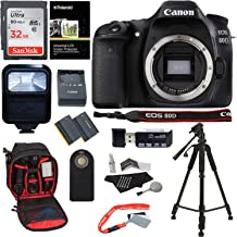 Canon EOS 80D Digital SLR Camera Body, 32GB Memory Card, Ritz Gear Camera Backpack, Camera Flash, Remote Shutter Release, Ritz Gear 57