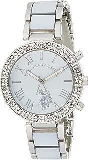 U.S. Polo Assn. Women's Quartz Metal and Alloy Dress Watch, Color:White (Model: USC40086)