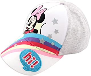 Toddler Baseball Hat for Girls Age 2-4, Minnie Mouse, Rainbow, Heather Jersey Girls Baseball Cap