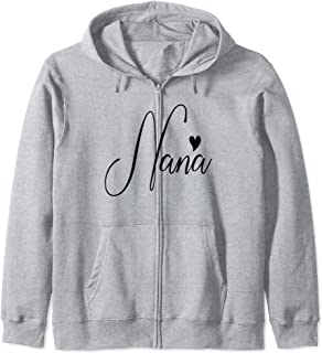 Nana Birthday Christmas Gift For Grandma Women From Grandkid Zip Hoodie