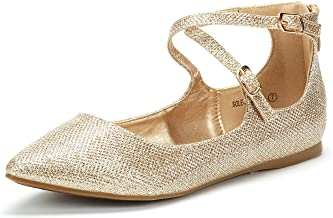 DREAM PAIRS Women's Ankle Straps Marry Jane Ballerina Flat Shoes