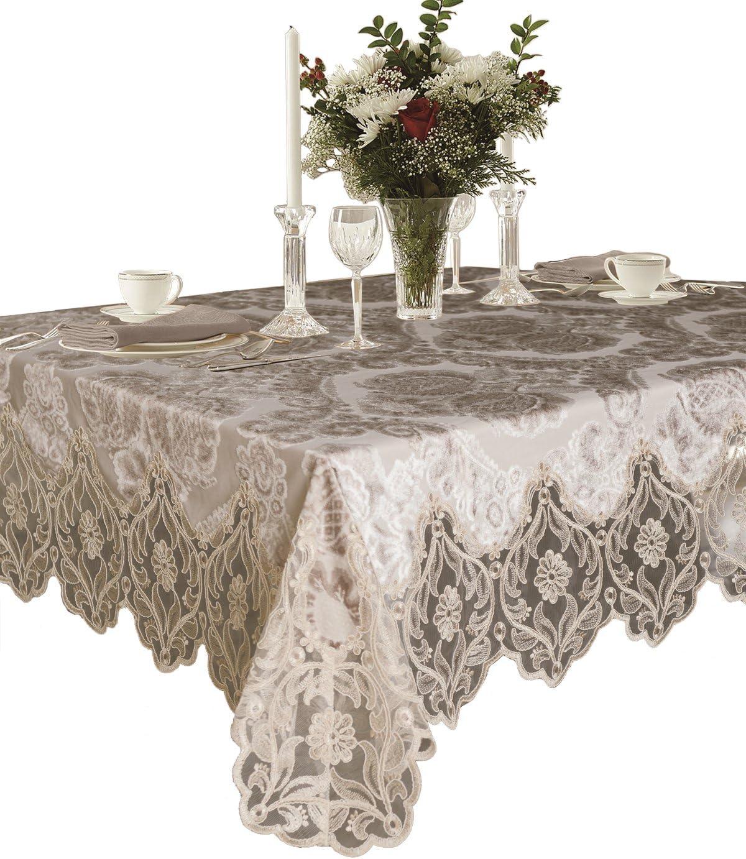 Violet Linen Deluxe Valvet Tablecloths 160