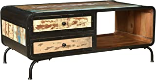 Christopher Knight Home Abby Boho Industrial Recycled Wood TV Stand, Distressed Paint, Black