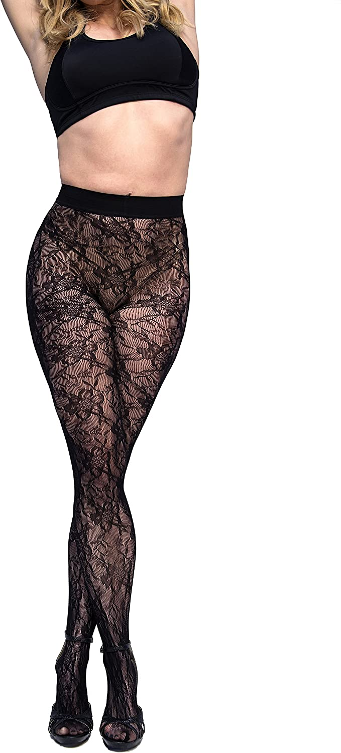 Curvation womens Figure Enhancing Blossom Tights