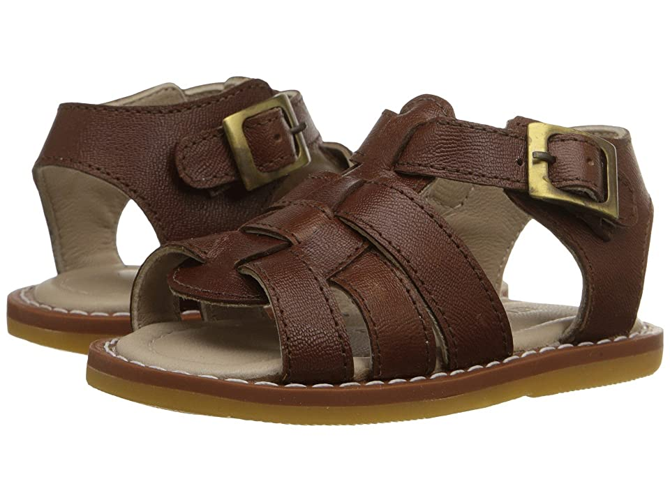Elephantito Fisherman Sandal (Infant/Toddler) (Leather Brown) Boys Shoes