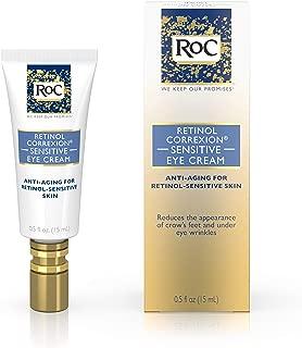 RoC Retinol Correxion Anti-Aging Eye Cream for Sensitive Skin, Anti-Wrinkle Treatment with milder retinol formula that helps condition skin to retinoids.5 fl. oz