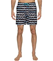 Original Penguin - Watercolor Wave Print Swim Shorts