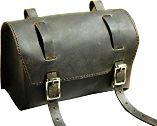 Herte Genuine Leather Bicycle Saddle Box Bag Utility Vintage Bag br