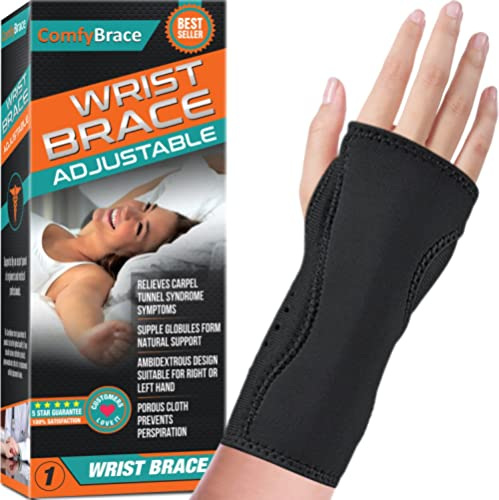 Night Wrist Sleep Support Brace - Fits Both Hands - Cushioned to Help With Carpal Tunnel and Relieve and Treat Wrist ...