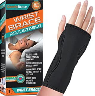 Night Wrist Sleep Support Brace - Fits Both Hands - Cushioned to Help With Carpal Tunnel and Relieve and Treat Wrist Pain ...