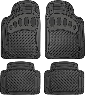 FH Group F11310BLACK Heavy Duty All Weather Floor Mats - 4 Piece