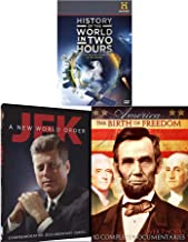 Landmark History DVD Series 3-pack US Lincoln & America: The Birth of Freedom + President JFK A New World Order John Kennedy & History of the World in Two Hours Documentary Channel Bundle