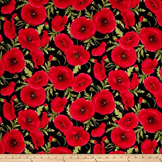 Best red poppy fabric Reviews