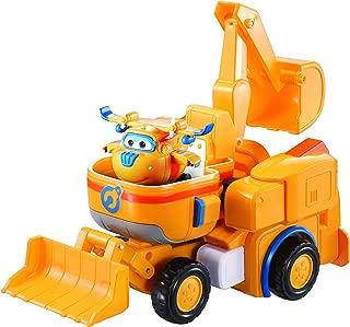 Super Wings - Donnie's Dozer | Transforming Toy Vehicle Set | Includes Transform-a-Bot Donnie Figure | 2