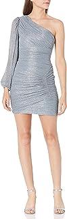 BCBGMAXAZRIA Women's One Shoulder Ruched Mini Dress