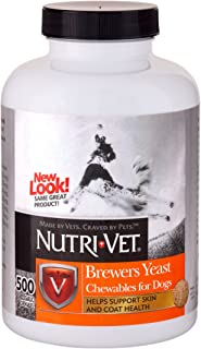 Nutri-Vet Brewers Yeast with Garlic Chewables, 500 Count