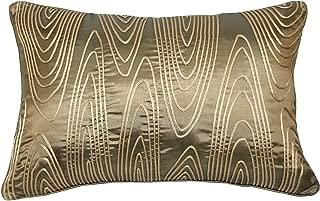 RM43 R&M Industries dba Edie 14x20 Corded Faux Bois Decorative Toss Pillow, Medium, Antique Gold