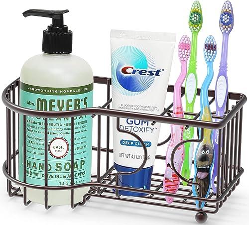 popular Simple new arrival online sale Houseware Multi-Functional 6 Slots Toothbrush Holder, Bronze online