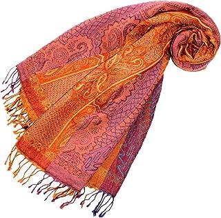 Lorenzo Cana Damen Pashmina Schal Schaltuch aus weicher Wolle Paisley Muster bunt mehrfarbig 70 cm x 190 cm Wollschal Wolltuch Stola Umschlagtuch 78196