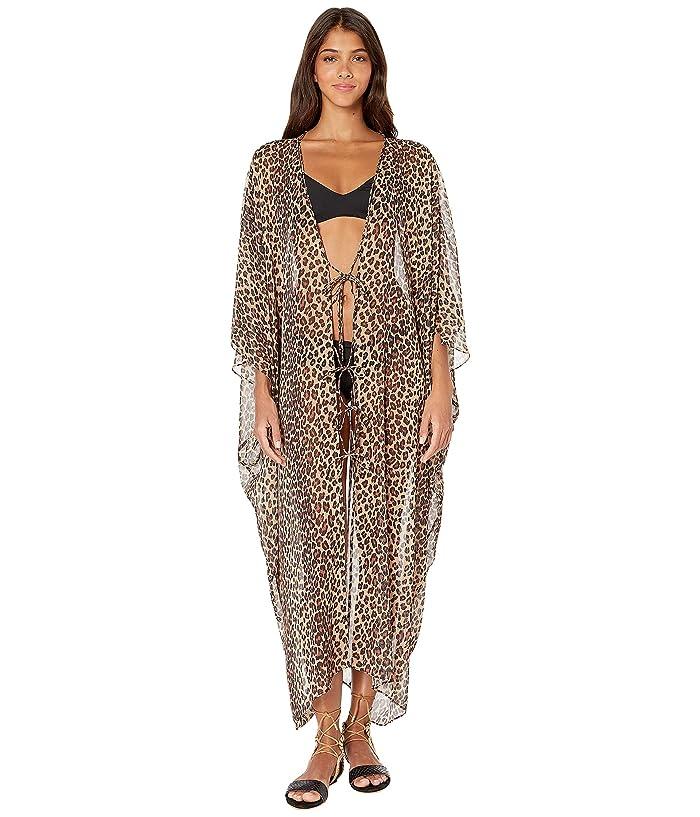 Jonathan Simkhai Leopard Print Tie Front Robe Cover-Up (Leopard Print) Women