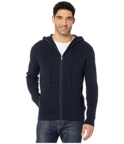 Calvin Klein Textured Hoodie Full Zipper 12GG (Night Sky) Men