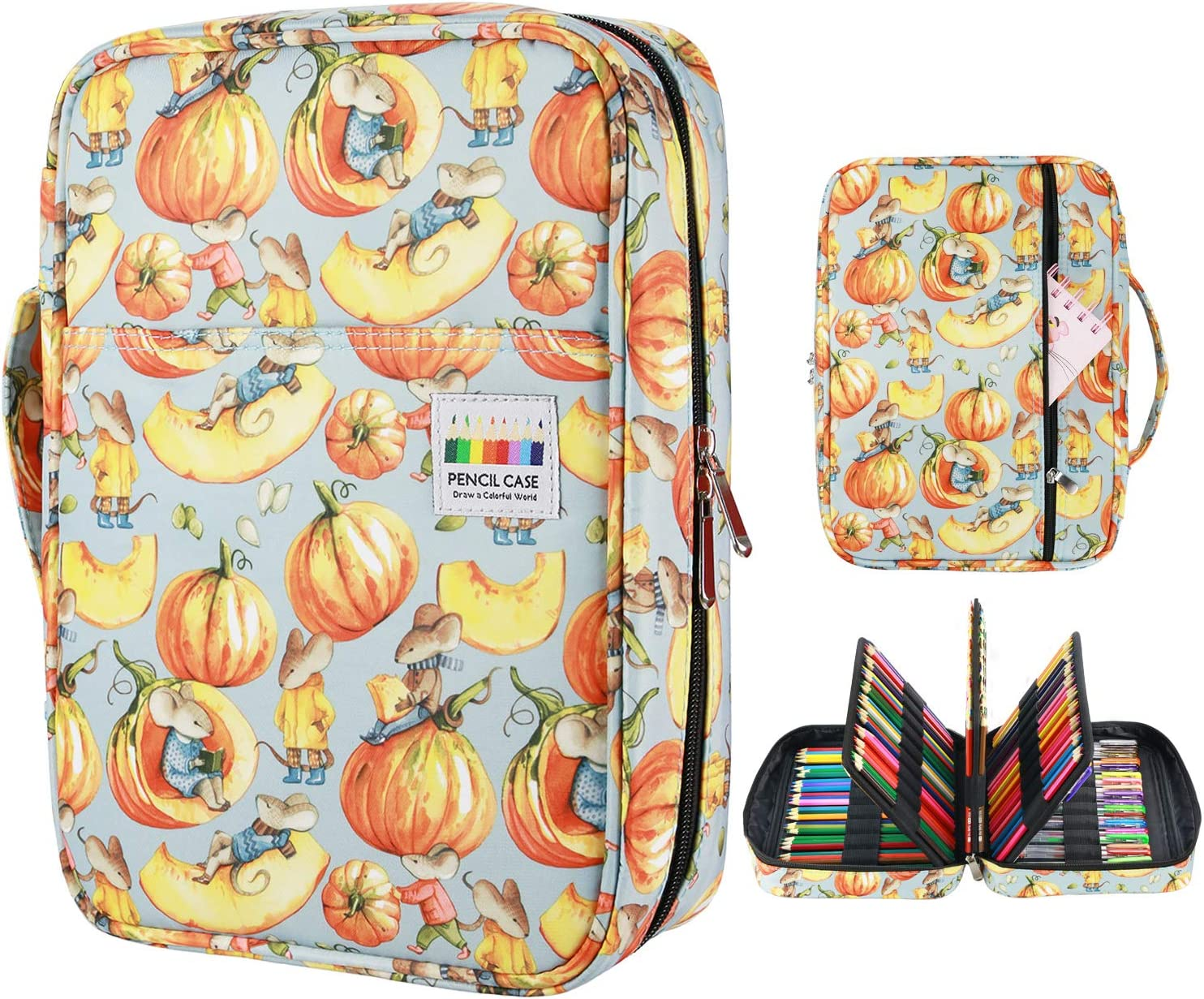 YOUSHARES Colored 2021 model Pencil Case Special price 220 Slots with Pen Organizer